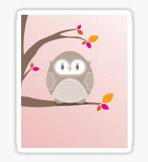 Sweet owl in a tree 5 Sticker