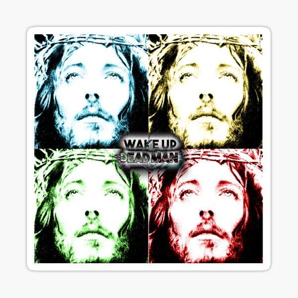 u2 wake up dead man jesus pop Sticker