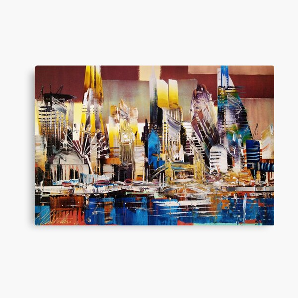 City of London Skyline Abstract Canvas Print