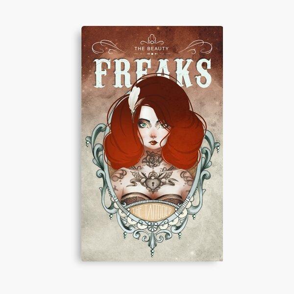 The Beauty Freaks - The Tattooed Canvas Print