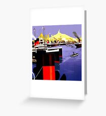 Graphic Works - Marseille Harbour - 1920 Greeting Card