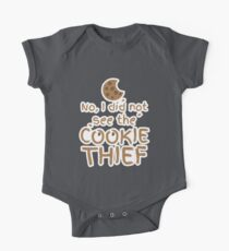 No, I did not see the cookie thief cute choc chip biscuit One Piece - Short Sleeve