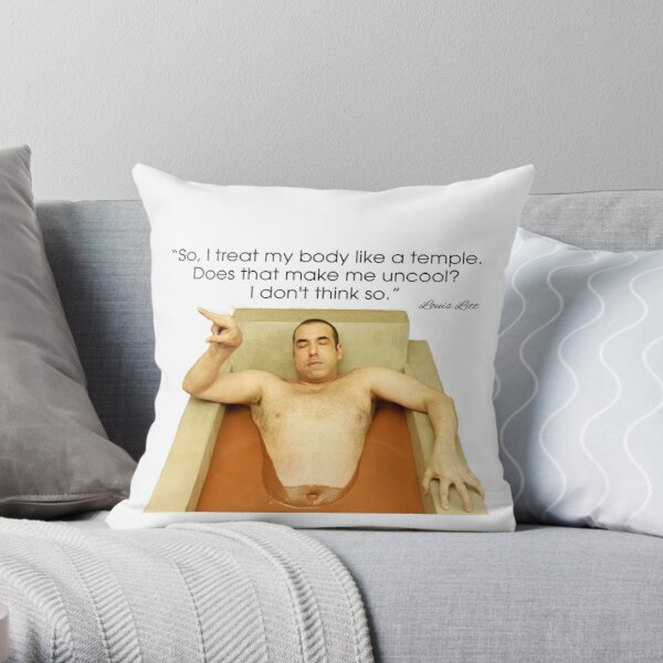 Louis Litt Suits funny Quote Throw Pillow