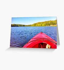 Canoeing Greeting Card