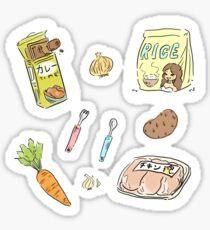 curry ingredients  Sticker