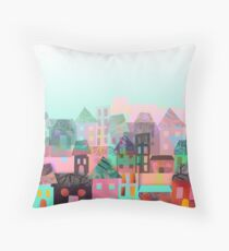 Paper town Throw Pillow