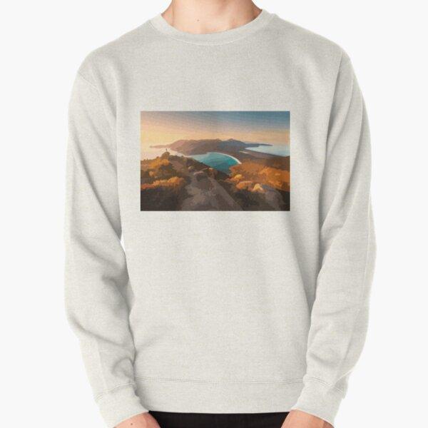 Wineglass Bay Digital Painting Pullover Sweatshirt