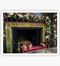 At The Hearth Of Christmas Sticker