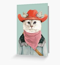 Rodeo Cat Greeting Card
