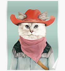 Rodeo Cat Poster