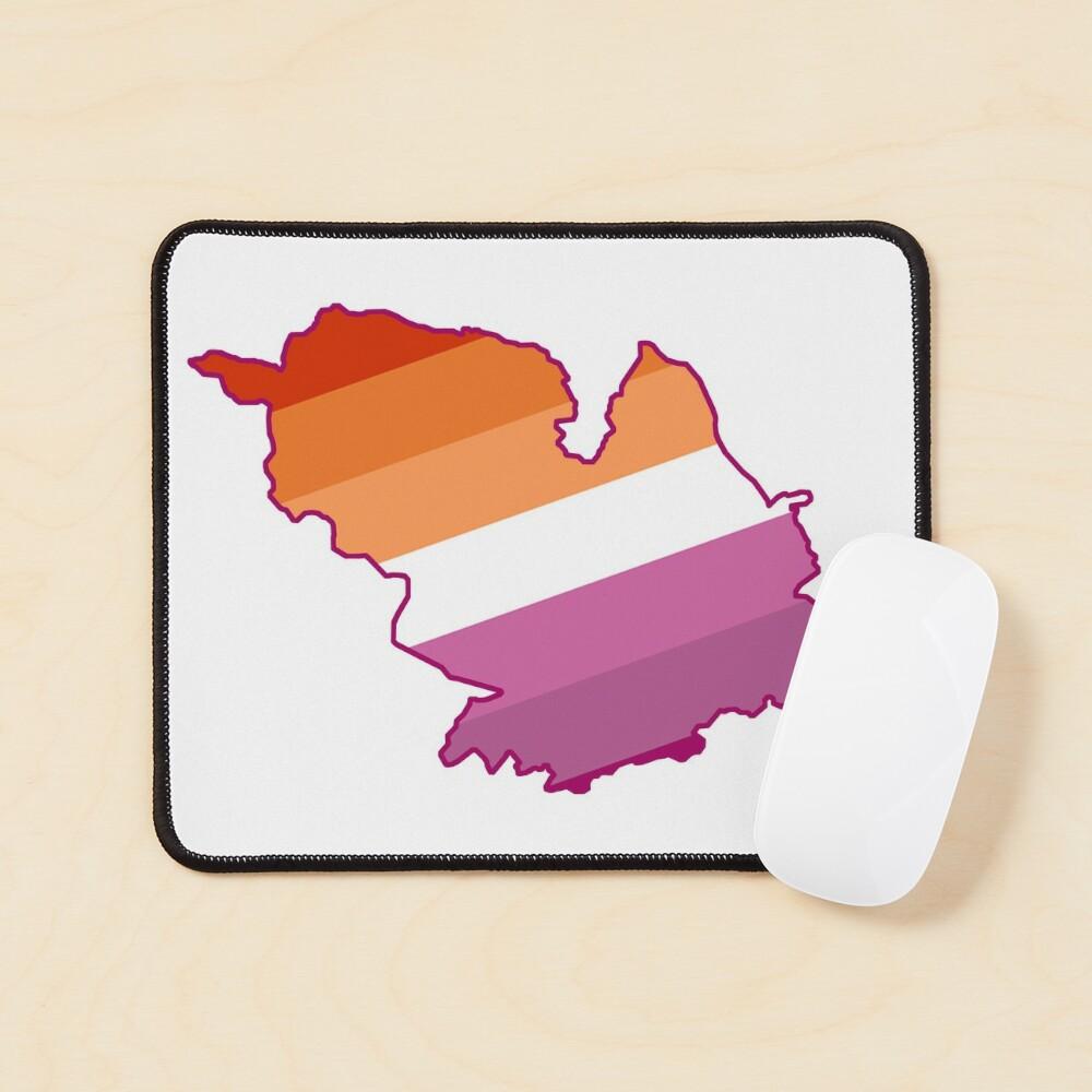 Lesbian Sheffield map LGBTQ lesbian pride flag Mouse Pad