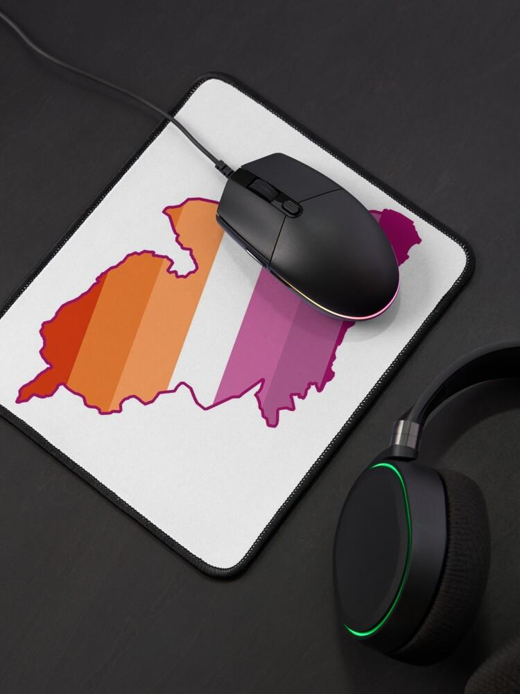Alternate view of Lesbian Sheffield map LGBTQ lesbian pride flag Mouse Pad