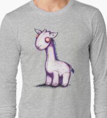 Purple Giraffe Long Sleeve T-Shirt