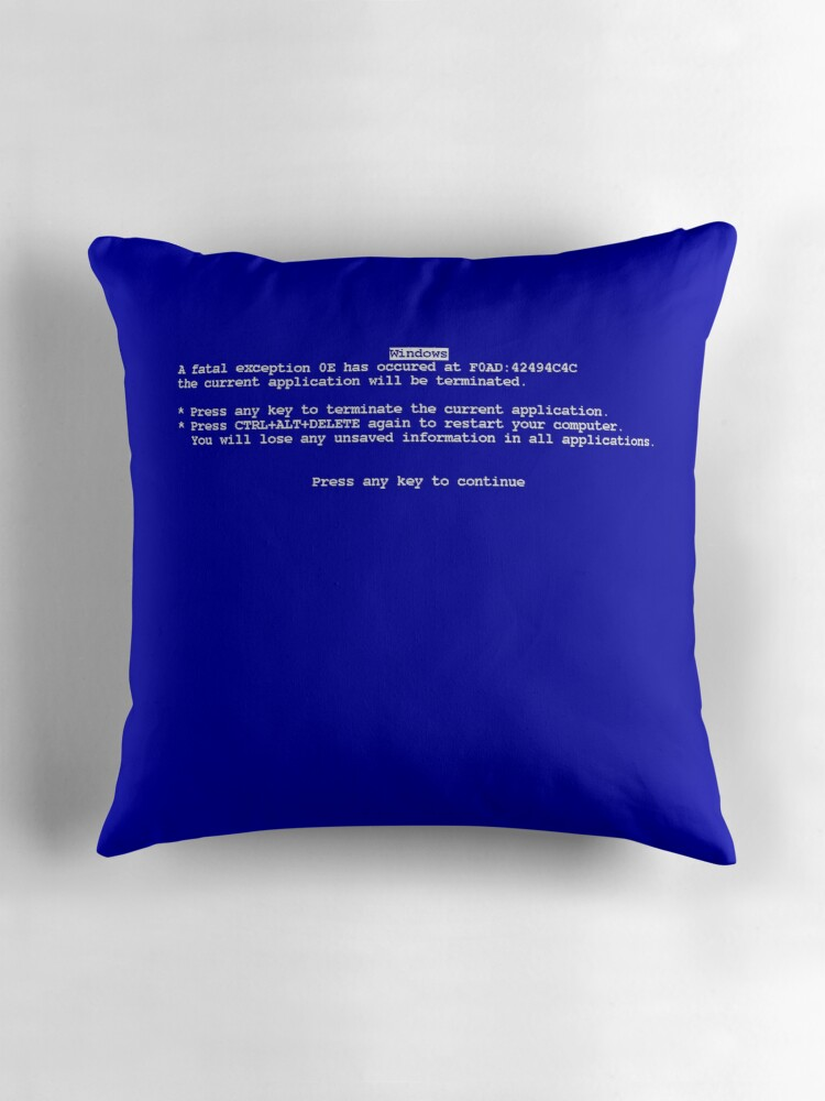 Quot Windows Blue Screen Of Death Bsod Quot Throw Pillows By