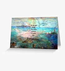 Rumi Inspiration Quote About The Universe With Beautiful Ocean Art Greeting Card