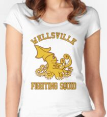 Wellsville Fighting Squid (Pete and Pete/Notre Dame parody) Women's Fitted Scoop T-Shirt