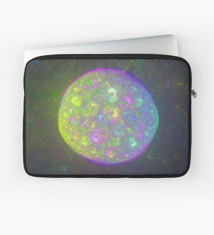 I also have another planet. #Fractal Art Laptop Sleeve