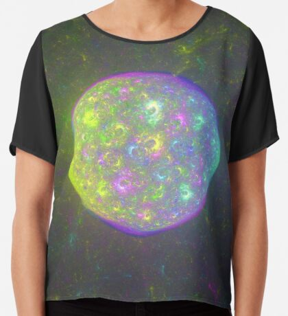 I also have another planet. #Fractal Art Chiffon Top