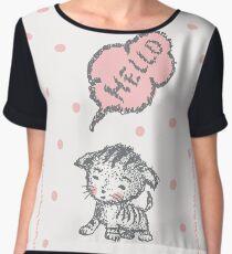cute cat Women's Chiffon Top