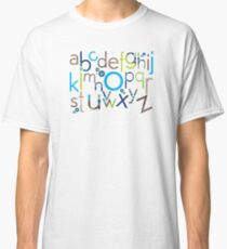 TYPOGRAPHY :: trendy alphabet 6 Classic T-Shirt