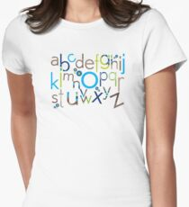 TYPOGRAPHY :: trendy alphabet 6 Womens Fitted T-Shirt