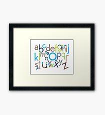 TYPOGRAPHY :: trendy alphabet 6 Framed Print