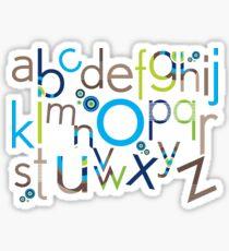 TYPOGRAPHY :: trendy alphabet 6 Sticker