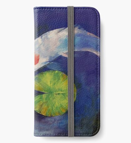 Tancho Koi and Water Lily iPhone Wallet