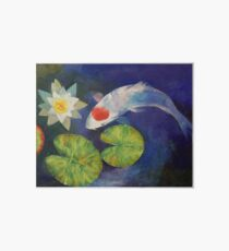 Tancho Koi and Water Lily Art Board