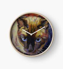 Seal Point Siamese Clock