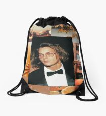 River Phoenix Orange Aesthetic  Drawstring Bag