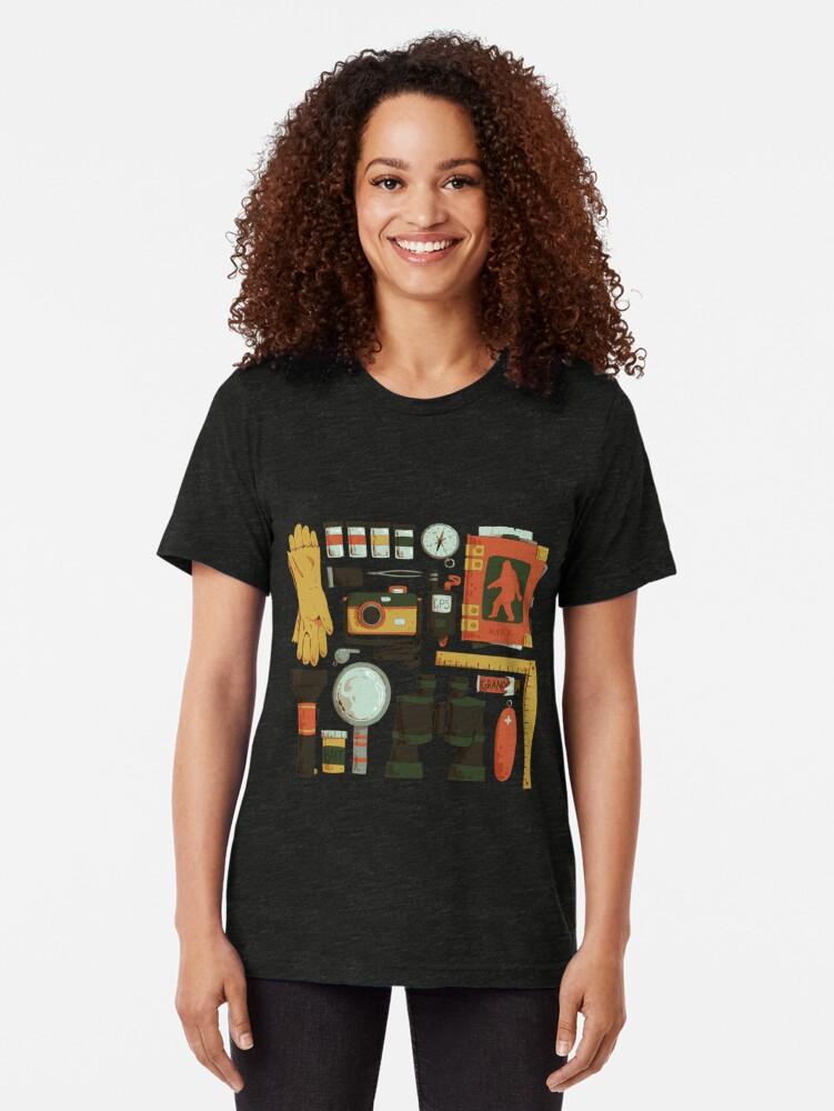 Alternative Ansicht von Cryptid Jagd Vintage T-Shirt