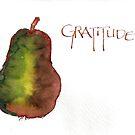 Gratitude Pear by dkatiepowellart