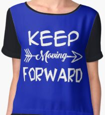 Keep moving forward Women's Chiffon Top