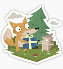 A Gift from a Fox Sticker