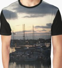 Dusk at Yacht Harbor Near San Diego Graphic T-Shirt