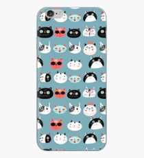 pattern amusing portraits of cats iPhone Case