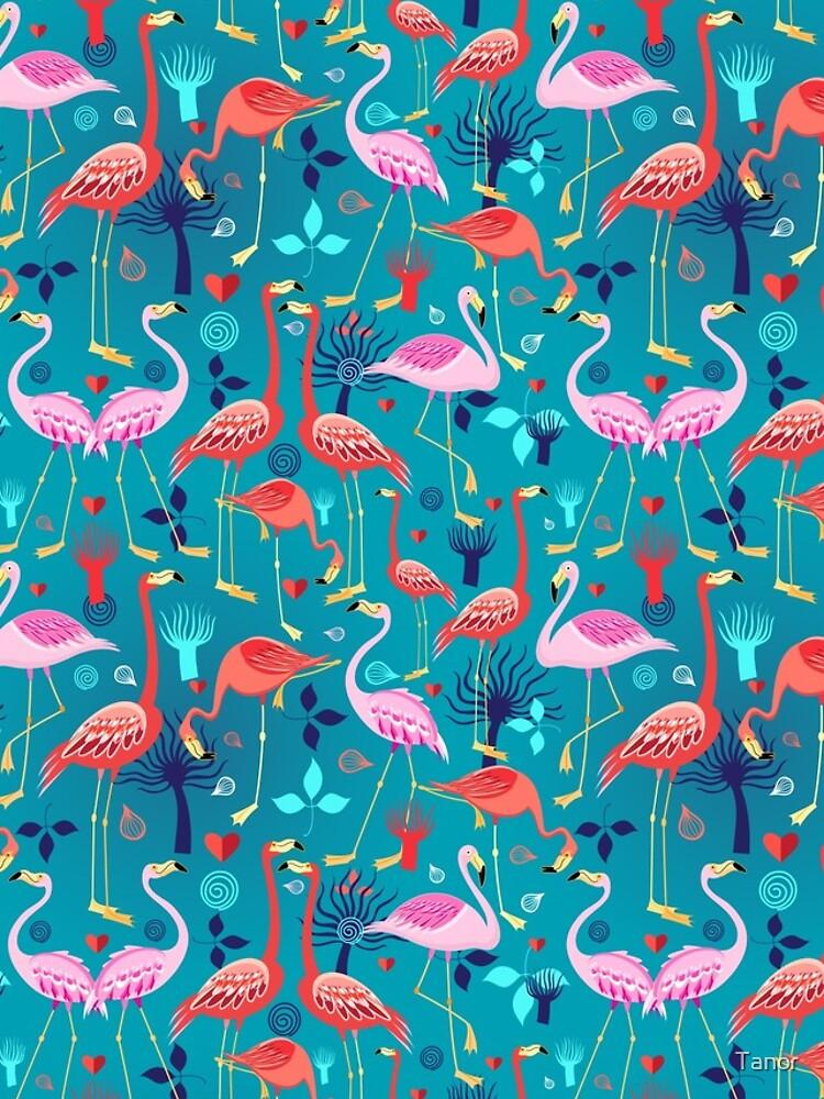 schöne Musterliebhaber Flamingo von Tanor