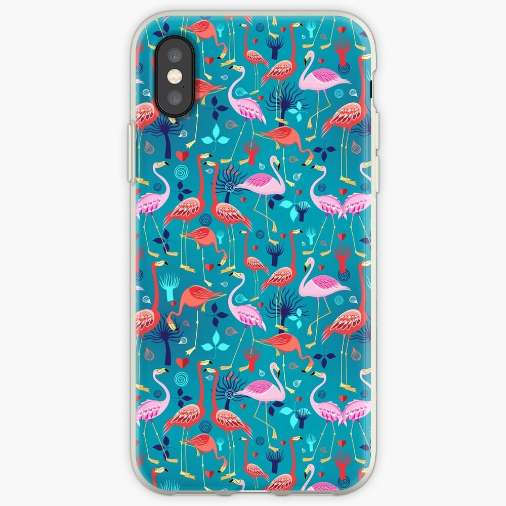 schöne Musterliebhaber Flamingo iPhone-Hülle & Cover