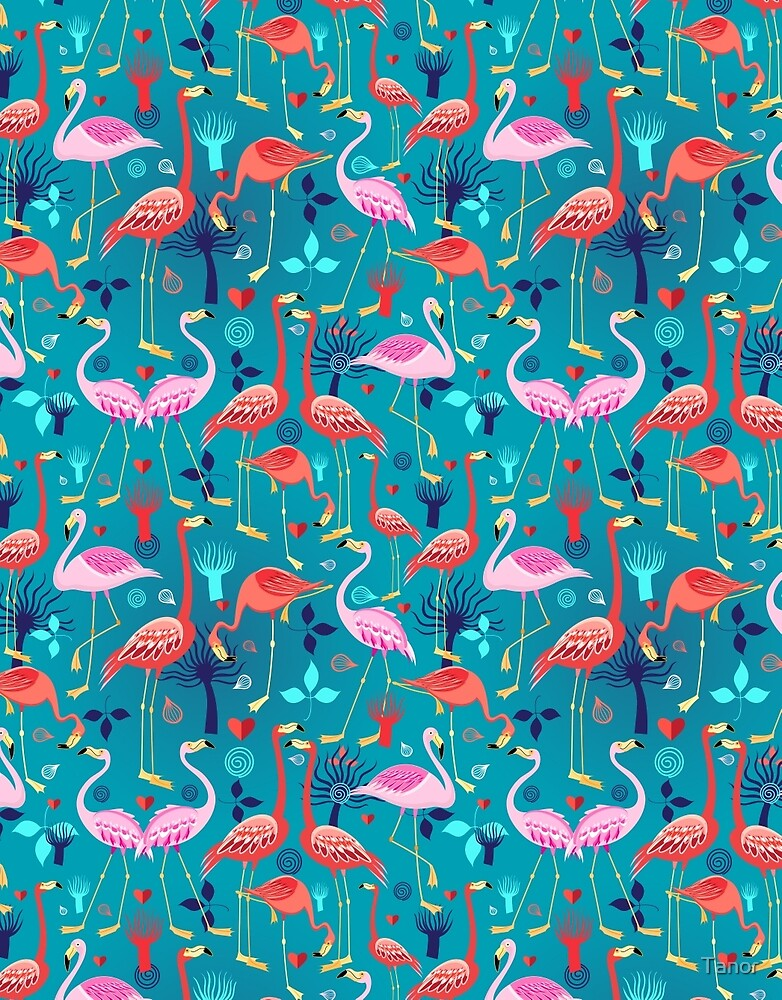 """""""beautiful pattern lovers flamingo"""" by Tanor"""
