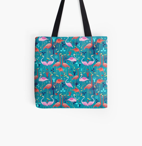 beautiful pattern lovers flamingo All Over Print Tote Bag