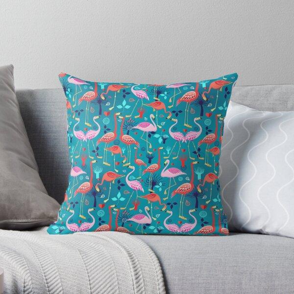 beautiful pattern lovers flamingo Throw Pillow