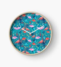 beautiful pattern lovers flamingo Clock