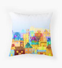 Paper town (Mixed) Throw Pillow