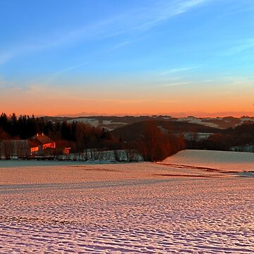 Colorful winter wonderland sundown III | landscape photography by patrickjobst