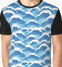 sea wave pattern Graphic T-Shirt