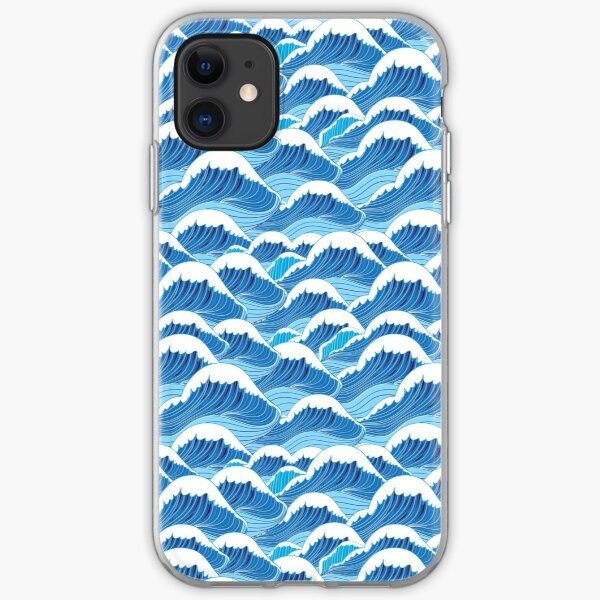 sea wave pattern iPhone Soft Case