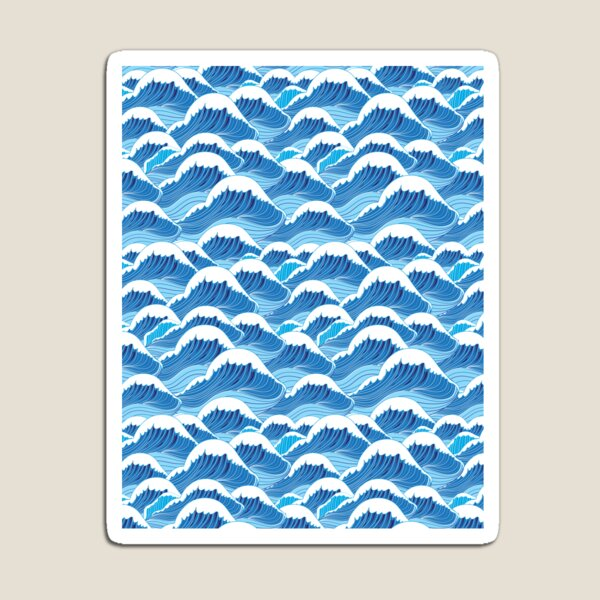 sea wave pattern Magnet