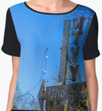 WTVY Channel 4 sign Chiffon Top