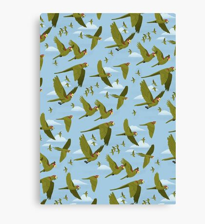 Parakeet Migration Canvas Print
